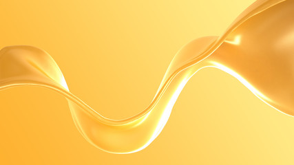 Splash of fluid. 3d illustration, 3d rendering.