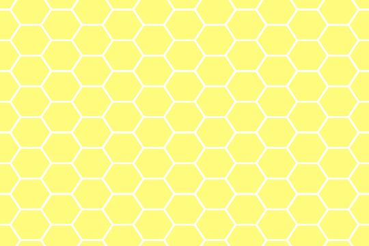 Simple yellow honeycomb hexagon background.