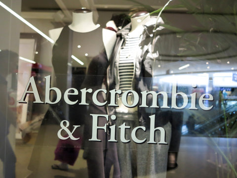 Abercrombie & Fitch retail clothing store. A&F is American retailer supplying casual wear for young consumers with over 400 USA locations and several around world.