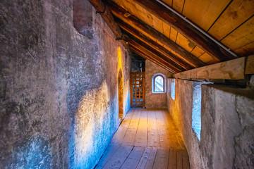 inside catacombs of Salzburg, Austria