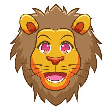 lion vector graphic clipart design