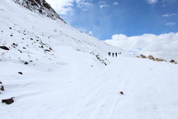 Cubierto de nieve en chacaltaya, Bolivia