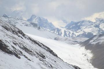 Montañas y nieve en Bolivia