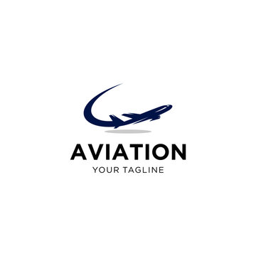 Aviation Logo Design Vector Template