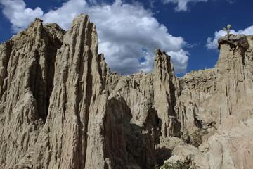 Riscos en el Valle de la Luna en Bolivia