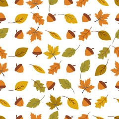 Autumn seamless background wallpeper
