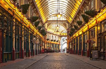 LONDON, ENGLAND UK - NOVEMBER 9, 2013: Leadenhall market