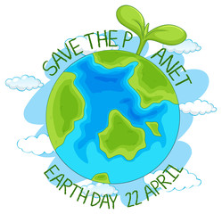 Save the planet earth poster