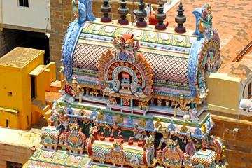 Wall Mural - Thayumanaswami Temple in Trichy, Tamilnadu