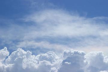 Canvas Prints Nubes esponjosas en el cielo