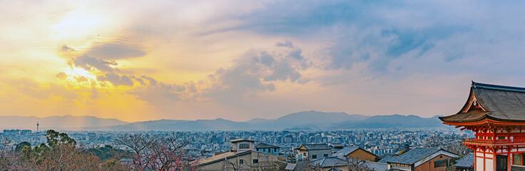 清水寺から京都市街の眺望
