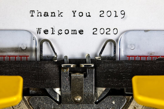 Thank You 2019 , Welcome 2020 , New Year and Christmas Concept