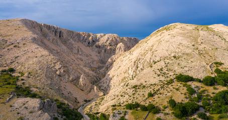 Krk island, mountain in Crotia