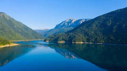 beautiful lake in Montenegro, Tara river, Durmitor- Balkans