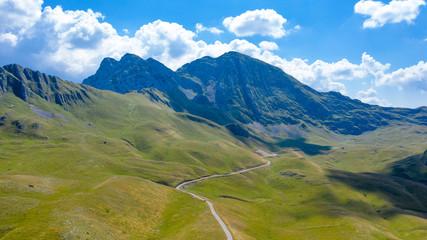 national park of Durmitor in Montenegro, beautiful mountain in Balkans