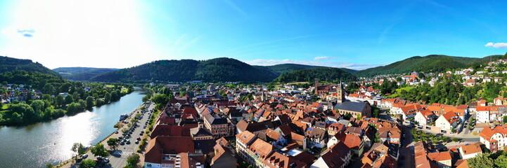Eberbach am Neckar von oben