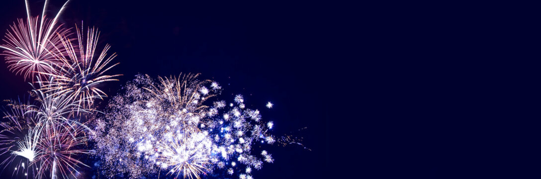 Fireworks background for anniversary, new year and festivals