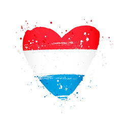 Luxembourg flag in the form of a big heart.