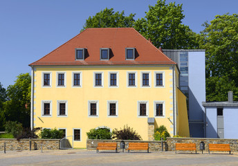 Freiberg is mining town. Its historic centre has been heritage conservation and is UNESCO World Heritage Site - Ore Mountain Mining Region