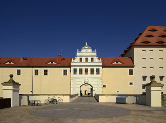 Freiberg Castle. Freiberg is mining town. Its historic centre has been heritage conservation and is UNESCO World Heritage Site - Ore Mountain Mining Region