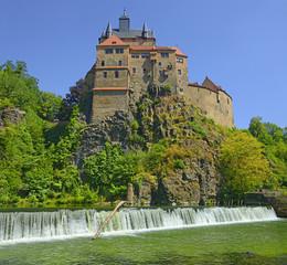 Historic Kriebstein castle near Waldheim in Saxony, Germany