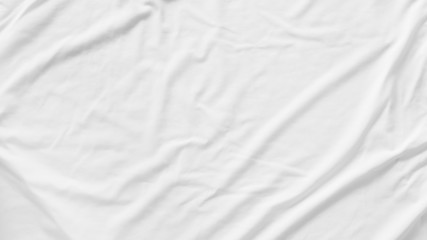 Pattern texture crumpled white fabric background
