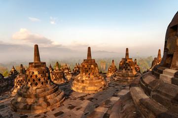 Fotobehang Indonesië Morning light over Candi Borobudur temple in Yogjakarta, Indonesia.