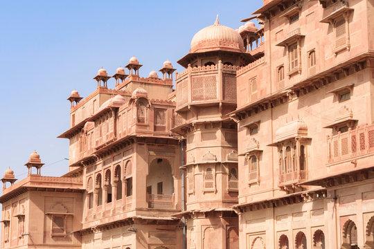 Bikaner,India,9,2007;Junagarth fort  magnificent structure around which the city of Bikaner