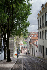 Portugal Lisbon tram Bario Alto