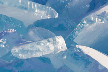 structure of ice on Lake Baikal. Background for design