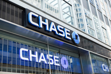 New York, New York, USA - August 18, 2011: A Chase Bank sign on 3rd avenue in Manhattan.