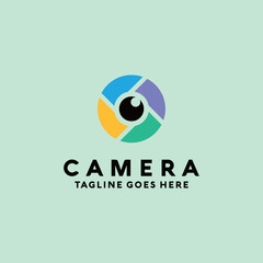 Camera Logo Vector Logo Design Template. Colorful and Modern Icon. App And Technology Symbol.