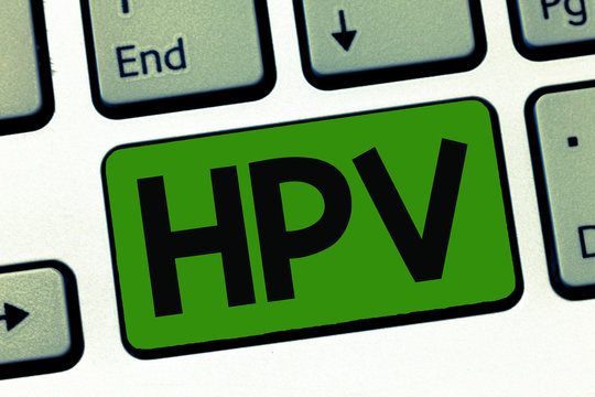 Word writing text Hpv. Business concept for Group of viruses that affect your skin and the moist membranes.