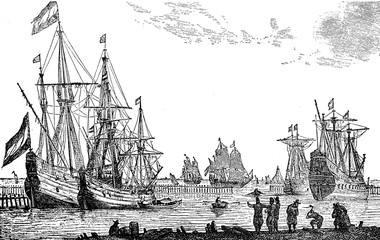 French commercial ships at the age of Louis XIV, 17th century
