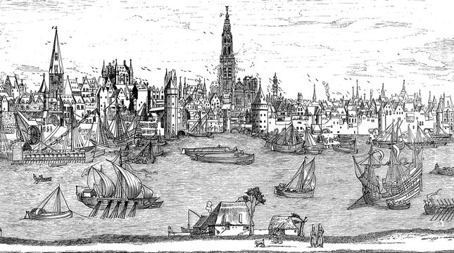 Port of Antwerp at the beginning of the 16th century