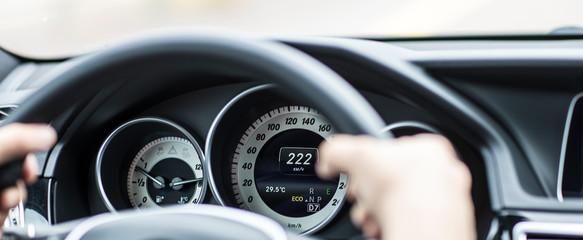 speedometer in a car, speed 200 km / h