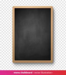 Vector illustration of vertical menu board