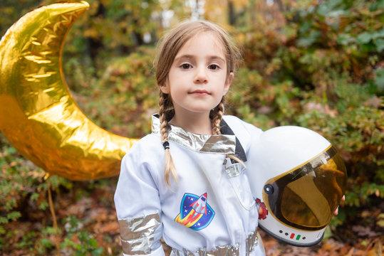 Proud astronaut