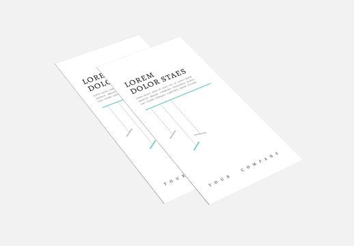 Trifold Brochure Layout with Mint Green Accents