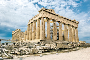 Parthenon on the Acropolis hill in Greece.
