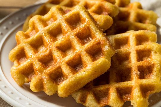 Homemade Belgian Sugar Waffles