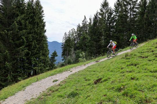 Mountainbike im Chiemgau
