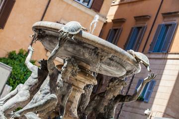 The Turtle Fountain located in Piazza Mattei built in 1588 by the architect Giacomo della Porta