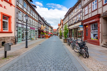Architecture of Wernigerode old town with half-timbered houses, Germany Fototapete