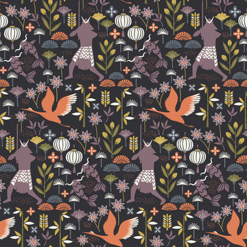 Samurai pattern seamless design illustration