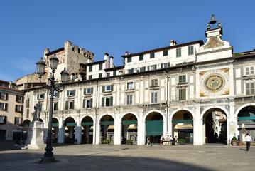 Fototapete - Brescia - Piazza Loggia torre dell'orologio