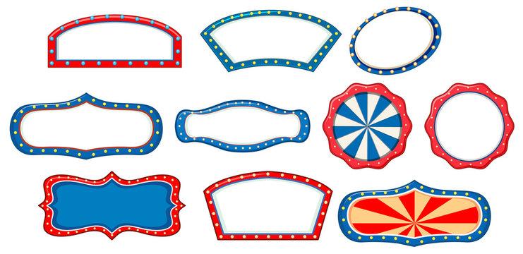 Banner template in ten designs