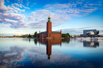 View of Stockholm Sweden early mornin