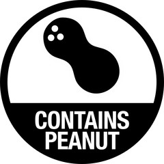 Contains Peanut Symbol for Food Packaging with Label