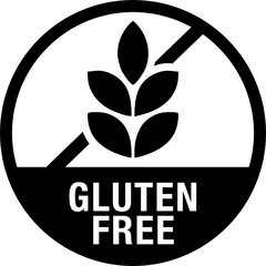 Gluten Free Symbol for Food Packaging with Label